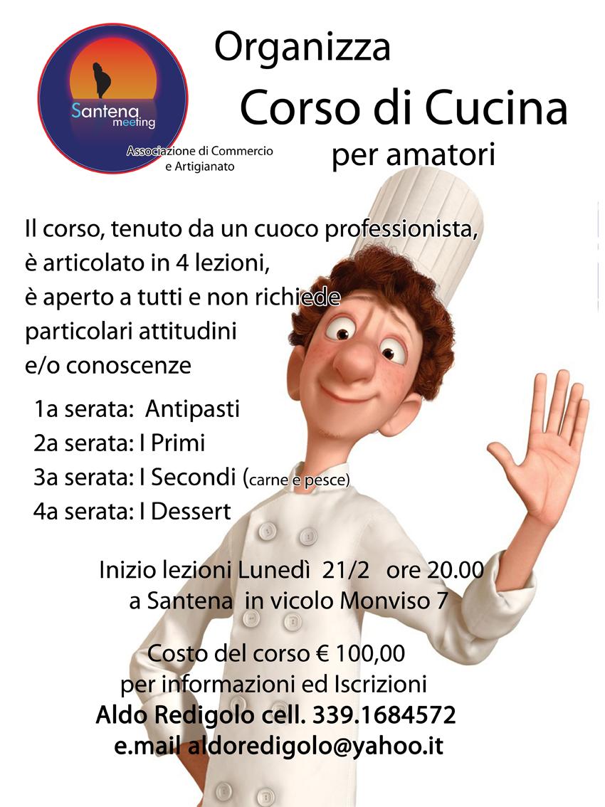 Santena corso di cucina proposto da santena meeting rossosantena - Corso di cucina bologna ...