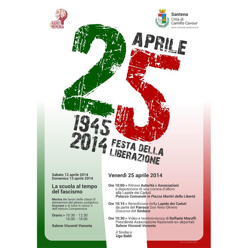 Fuori Salone Venerdi 15 Aprile : Santena aprile festa della liberazione