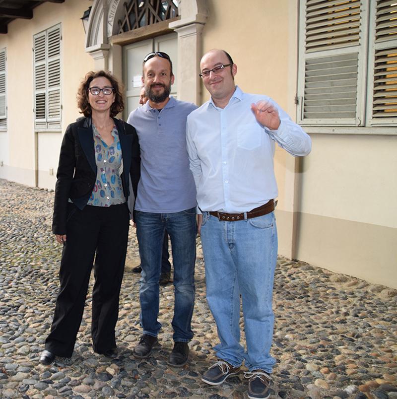 COLLOQUI Alessandro Caparelli e Daniele Franco, in 20 settembre 2016, in dialogo con Francesca Paola Leon, assessora alla Cultura della città di Torino, che ha appena tagliato il nastro di inaugurazione del restauro della stanza del conte Camillo Benso di Cavour.