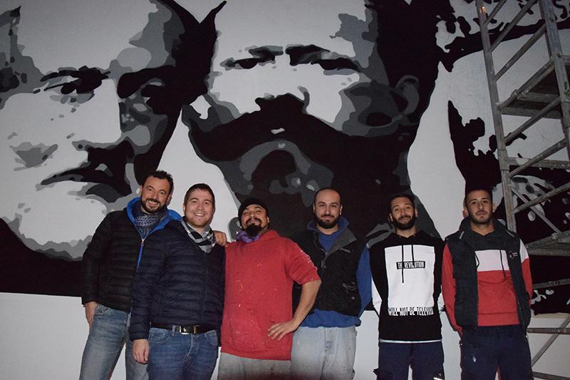 I 4 writers con gli amministratori Roberto Ghio e Paolo Romano